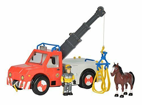 SIMBA 109258280 Fireman Sam - Phoenix Rescue Vehicle Playset with Figurine and