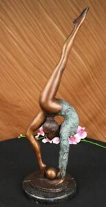 COLLECTOR-EDITION-FLOOR-KID-GYMNAST-BRONZE-SCULPTURE-ART-DECO-SPORT-FIGURINE-LRG
