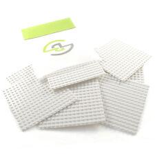16x16 Stud White Base Plates x8 - Bulk Lego Compatible Building Block Parts