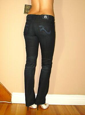 $200 + Originale Rock&republic Brie Basso Dritto Petite Jeans Indulgere Blu Comodo E Facile Da Indossare
