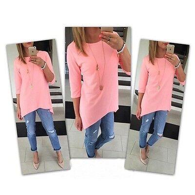 Fashion Women Casual Long Sleeve Loose Pullover T Shirt Cotton Tops Shirt Blouse