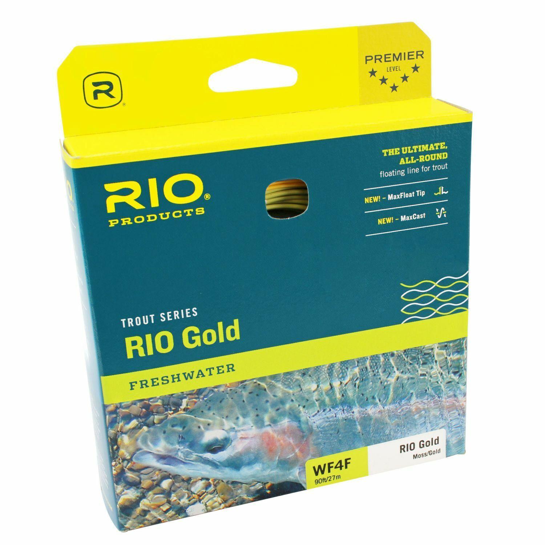 (  m) RIO Gold DualTone Fliegenschnur moss Gold - WF-3,4 und 5 F