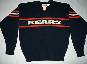 size 40 8cedc 470e3 Details about Vintage 80s Chicago Bears Sweater NFL Pro Line Authentic By  Cliff Engle size L