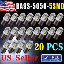 20 PCS T11 BA9S 5050 5-SMD LED White Light Bulb Car 12V Lamp T4W 3886X H6W 363