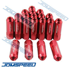 20PC RED JDMSPEED M12X1.5 60MM EXTENDED FORGED ALUMINUM TUNER RACING LUG NUT SET