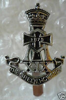 Staybrite The Green Howards Cap Badge,1875 Alexandra badge Anodised,maker FIRMIN