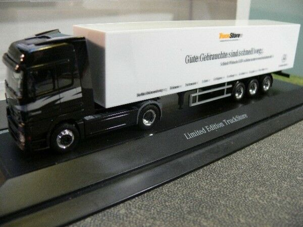 1 87 Herpa MB Actros MB Camion Store valise-Semi-remorque