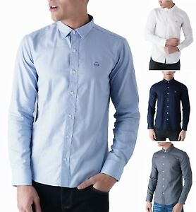Duck Casual Slim Moda Di Uomo Cover Lunga Oxford Birch And Cotone Camicia Manica rcW07Yrqw
