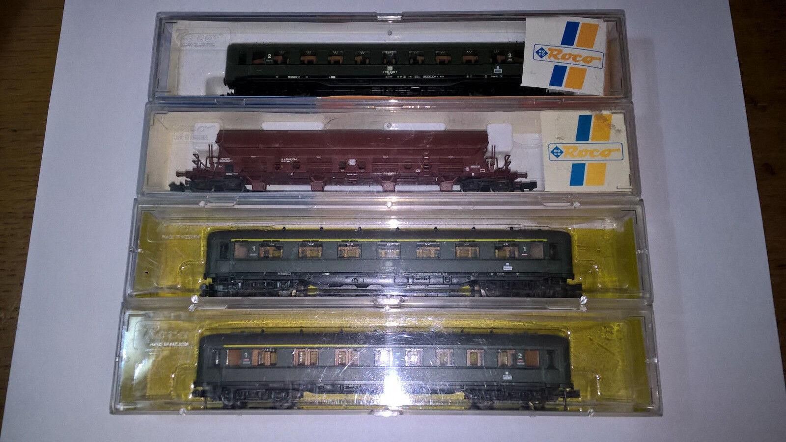 Roco lotto 4 vagoni Scala N. Perfetti con scatole originali.