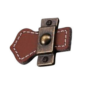 Vintage Leather Cabinet Handles Home Furniture Cupboard Pull Knob #4 Brown