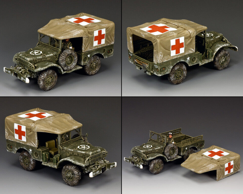 King and Country Dodge WC51 Weapons Carrier (hiver ambulance) WW2 BBA080 | Extravagant