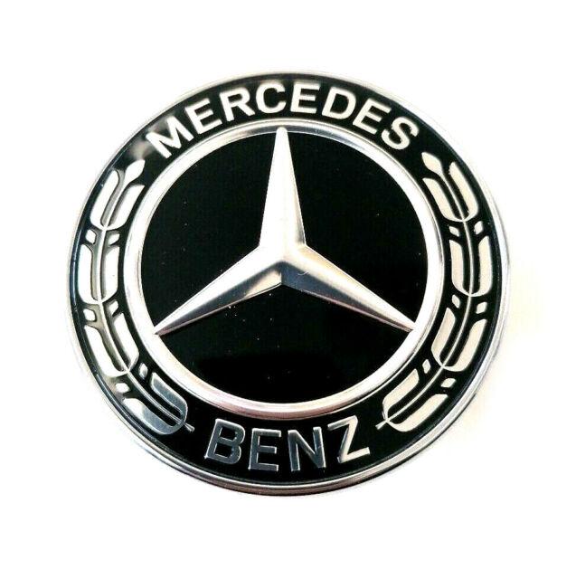 ✓ Originale Mercedes Stemma Davanti Centro Alloro Nero Classe A
