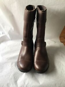 ac3a1359472 Details about UGG GERSHWIN WATERPROOF BROWN LEATHER SHEEPSKIN BOOTS WOMENS  Size 6
