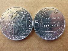 Pièce monnaie POLYNESIE PACIFIC 5 FRANCS 2008 NEUVE NEW UNC