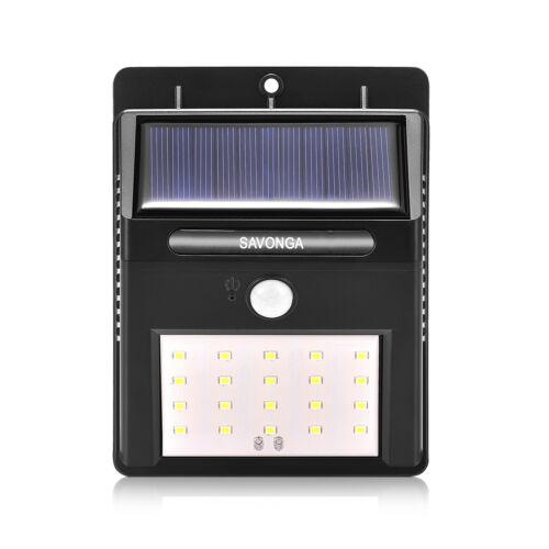 Solarbeleuchtung Außenbeleuchtung Gartenleuchte mit Bewegungsmelder mit 20 LEDs