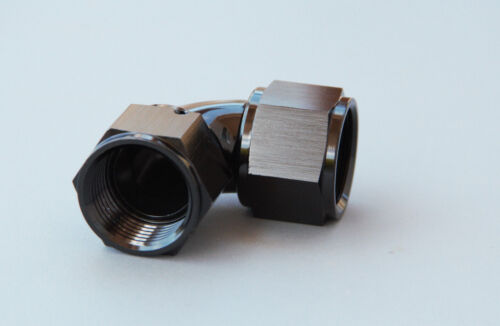 16 AN Female Swivel Full-Flow Union Adapter Fitting 90 degree 16 AN Female to