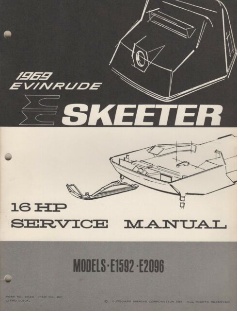 Evinrude Skeeter Snowmobile Service Manual Manual Guide