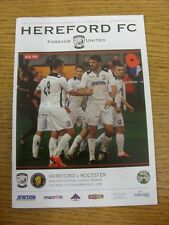 07/11/2015 Hereford v Rocester [1st Season] . Any faults with this item have bee