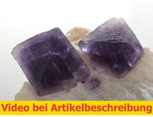 7404-Fluorit-Oktaeder-Quarz-ca-3-9-7-cm-Wuyi-China-MOVIE