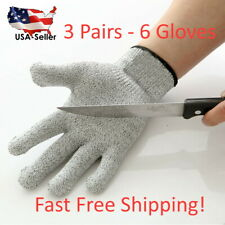 3 Sets Protective Cut Resistant Gloves Level 5 Certified Safety Free Shipping