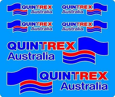 Fishing,Boat Mirrored Sticker Decal Set of 6 5 Colour Quintrex Australia Flag
