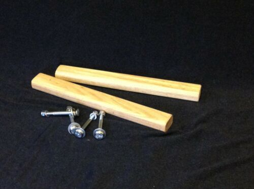 Pair of ash canoe handles oiled complete with fixings