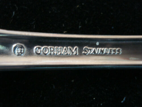 Gorham /' Pierced Baroque /'  Set of 4 ~ Stainless Steel~Oval Soup Spoons ~ Mint !