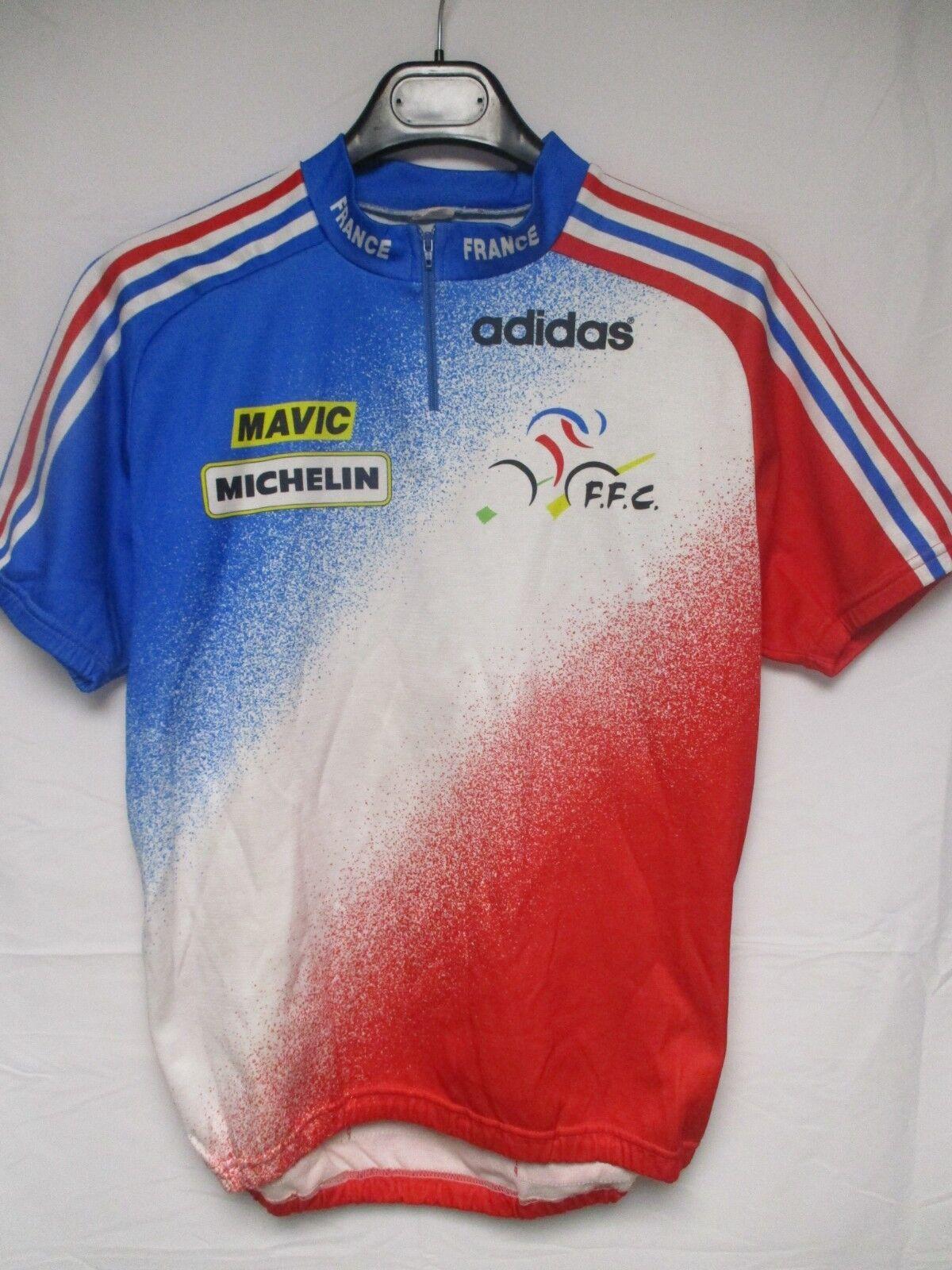 Maillot cycliste Equipe de FRANCE F.F.C ADIDAS shirt Mavic Michelin Noret 5 XL