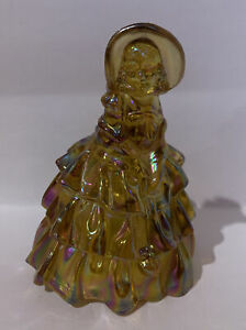 Vintage-Wheaton-Glass-Amber-Carnival-Glass-Victorian-Lady-Figurine