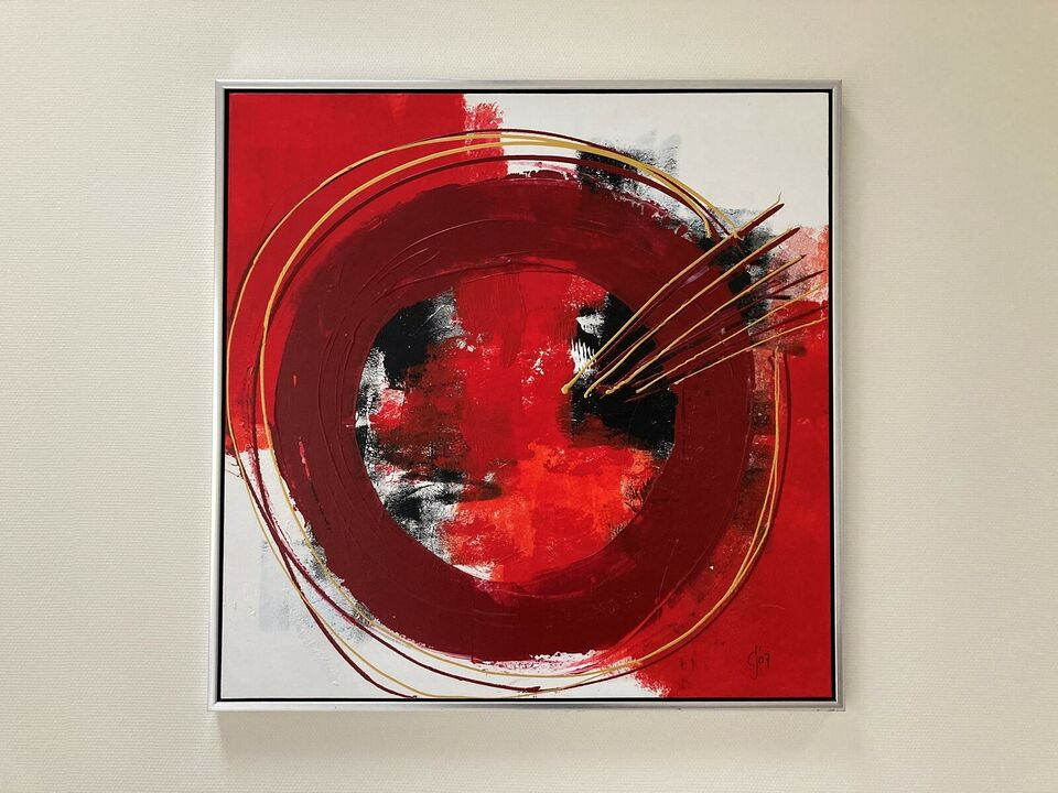 Akrylmaleri, Carsten Strandgaard, motiv: Abstrakt