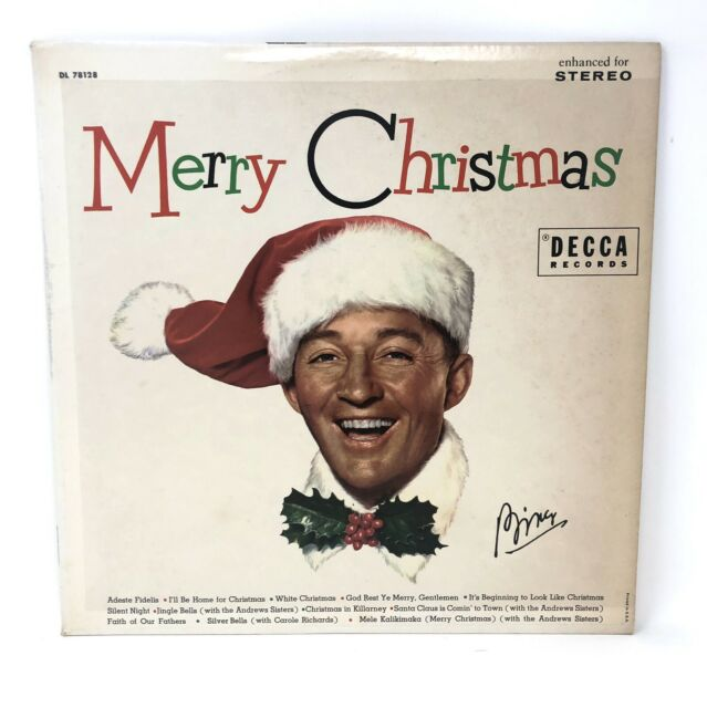 BING CROSBY: Merry Christmas. Decca DL 78128 Reissue Stereophonic Rainbow Label   eBay