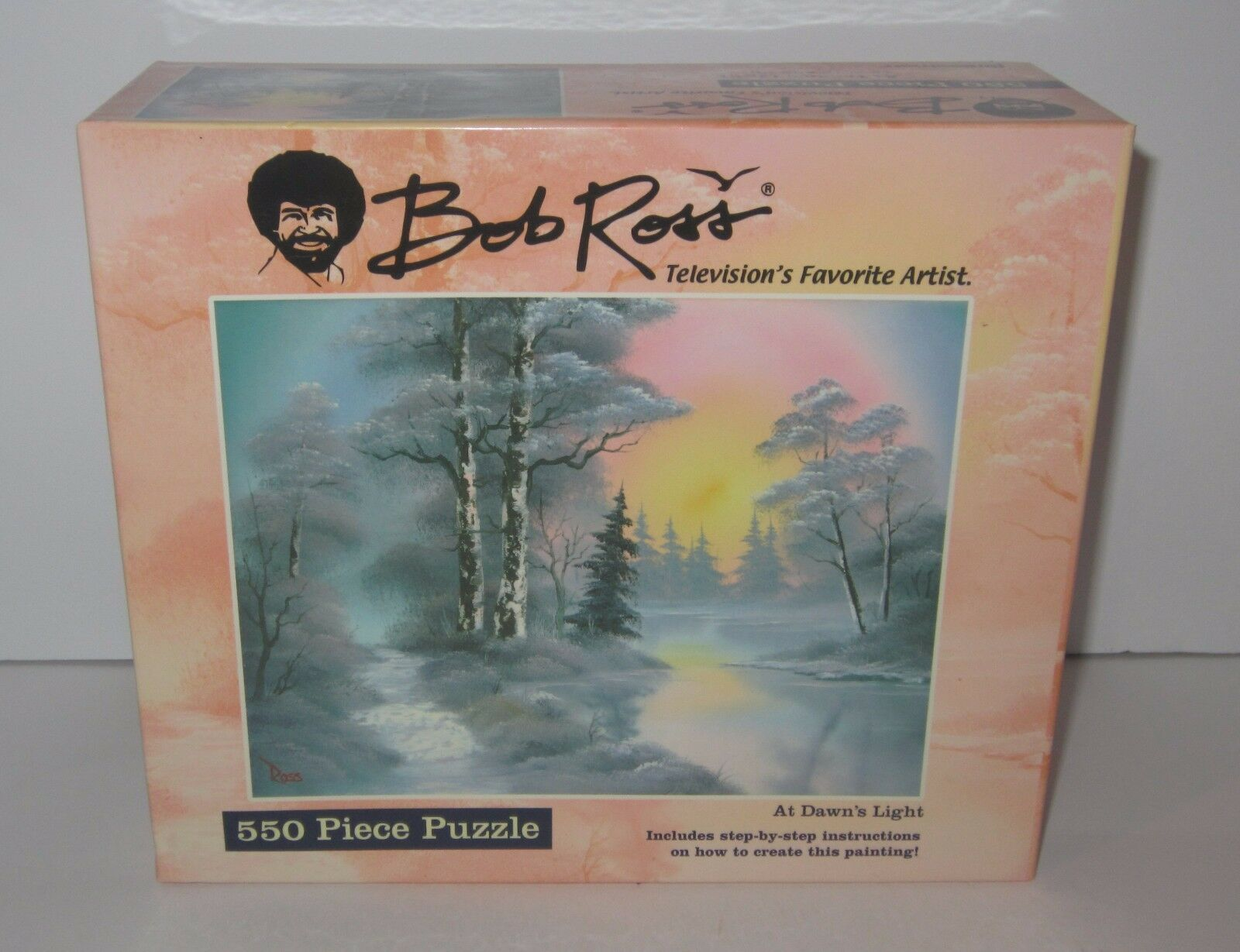 Bob Ross - At Dawn's Light - 550 Piece Puzzle - Pressman - Brand New & Sealed