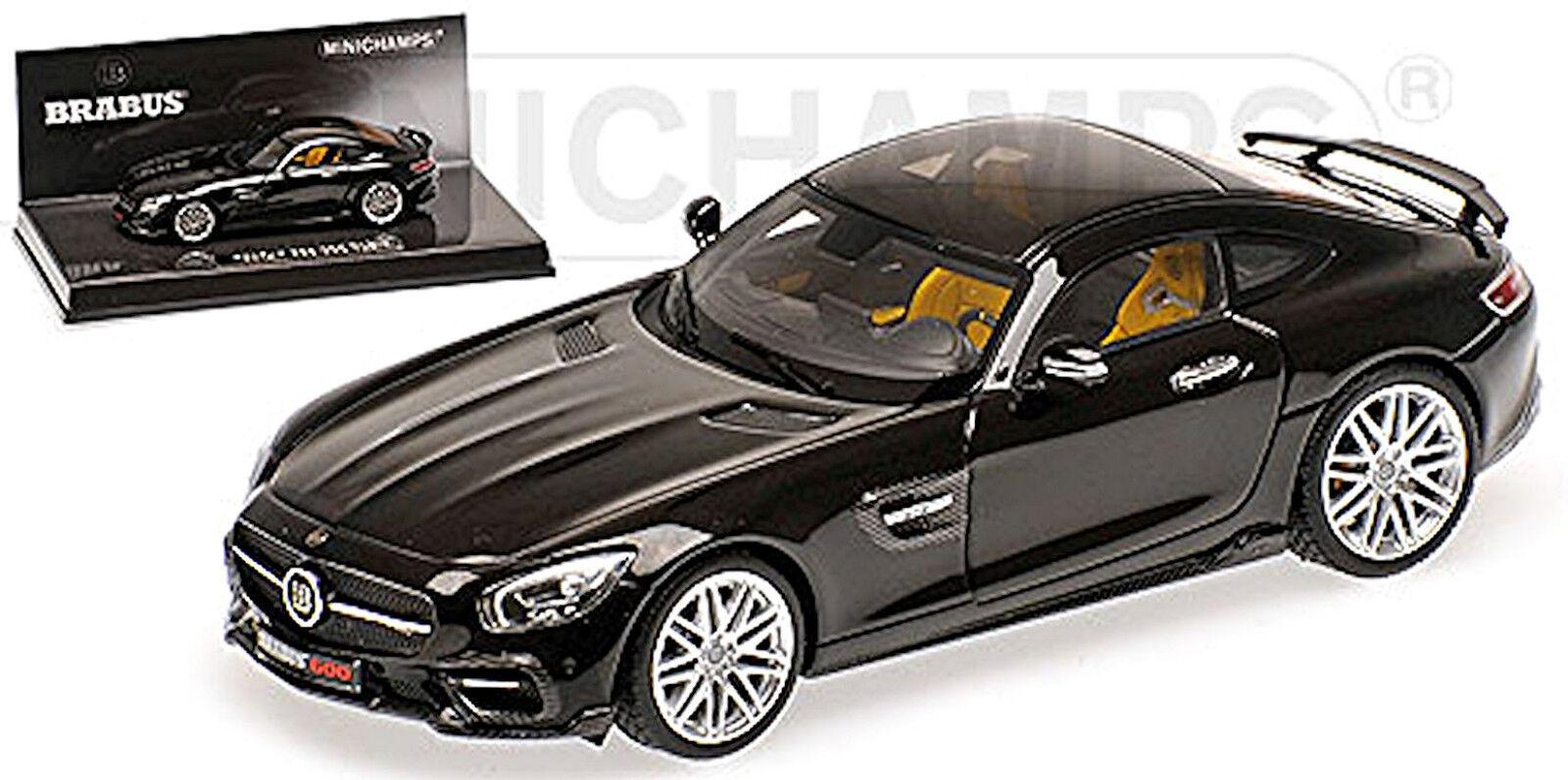 Brabus 600 Mercedes AMG GT S 2016 L.E.500 Pz black 1 43 Minichamps