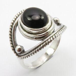 Vintage Style Black Onyx  Ring  Black Onyx Silver Ring  Oxidized Onyx Ring  Sterling Onyx Ring  Black Onyx Jewelry