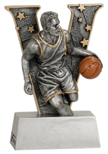 "6"" V Series Resin Basketball MaleTrophy JDSV802"