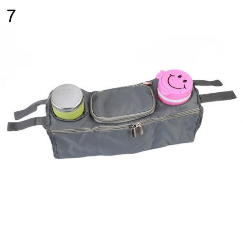 KIDS BABY STROLLER PRAM ORGANISER TRAY HANGING BAG//CUP HOLDER BOTTLE ALL