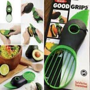 3 in 1 Avocado Cutter Slicer Blade Peeler Pit Remover Fruit Slicer Splits Slices