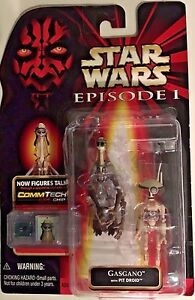 Star Wars Episode 1 Gasgano w// Pit Droid Figure w// CommTech Chip
