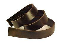 Seconds: One 8-10oz Espresso Dark Brown Buffalo Leather (heavy Weight) Strip