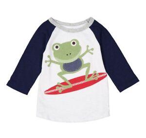 Boys MUD PIE boutique nautical t shirt 12-18 months NWT crab surf ocean beach