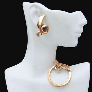 RENOIR-Vintage-Brooch-Pin-Earrings-Set-Devotion-Mid-Century-BOOK-PIECE-Classic