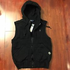 NEW POLO RALPH LAUREN QUILTED FLEECE VEST POLO JACKET BLACK MEN SIZE SMALL S