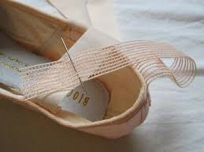 covert elastic Pointe shoe invisible