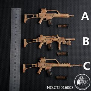 1-6-ct2016008a-b-c-Deutsch-g36-Gewehr-Gun-Modell-Waffe-Spielzeug-Fit-12-034-Soldat-Figur
