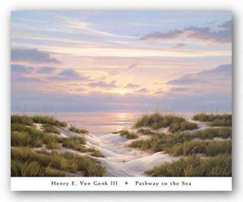 Pathway to the Sea Henry von Genk III Art Print 32x26