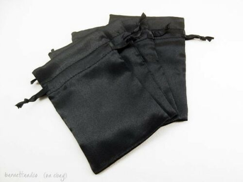 jewelry pouches Size 4x6 Inches for Favors 10 Satin Drawstring Bags gifts