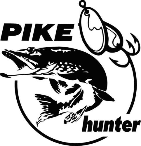 lures Angling decal tackle box Pike Hunter I logo vinyl decal  sticker lines