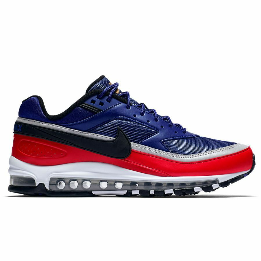 fb4d598577 NIKE Men's AIR MAX 97 BW Deep Royal bluee Red Sneakers AO2406-400 Size 7