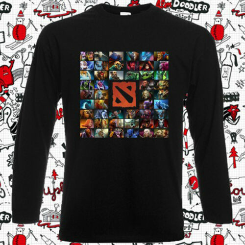 New DOTA 2 Character Video Game Logo Mens Long Sleeve Black T-Shirt Size S-3XL