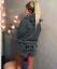 Damen MEOW Hoodie Nachtwäsche Shorts Winter Pyjama Set Katze Cat Kuschel Warm